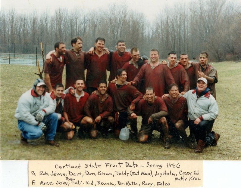 cortland rugby, vs albany, at oswego st, The Rain Game, april 13, 1996a