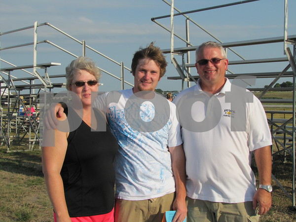 Becky, Ryan, and Randy Vanderpool.  Ryan Vanderpool was going to do a tandem jump to celebrate his birthday.