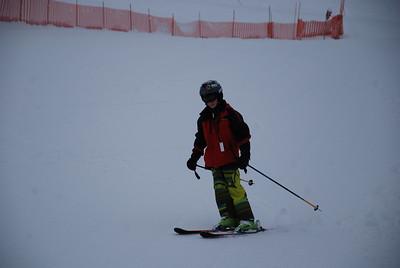 Craig and Anya Skiing.