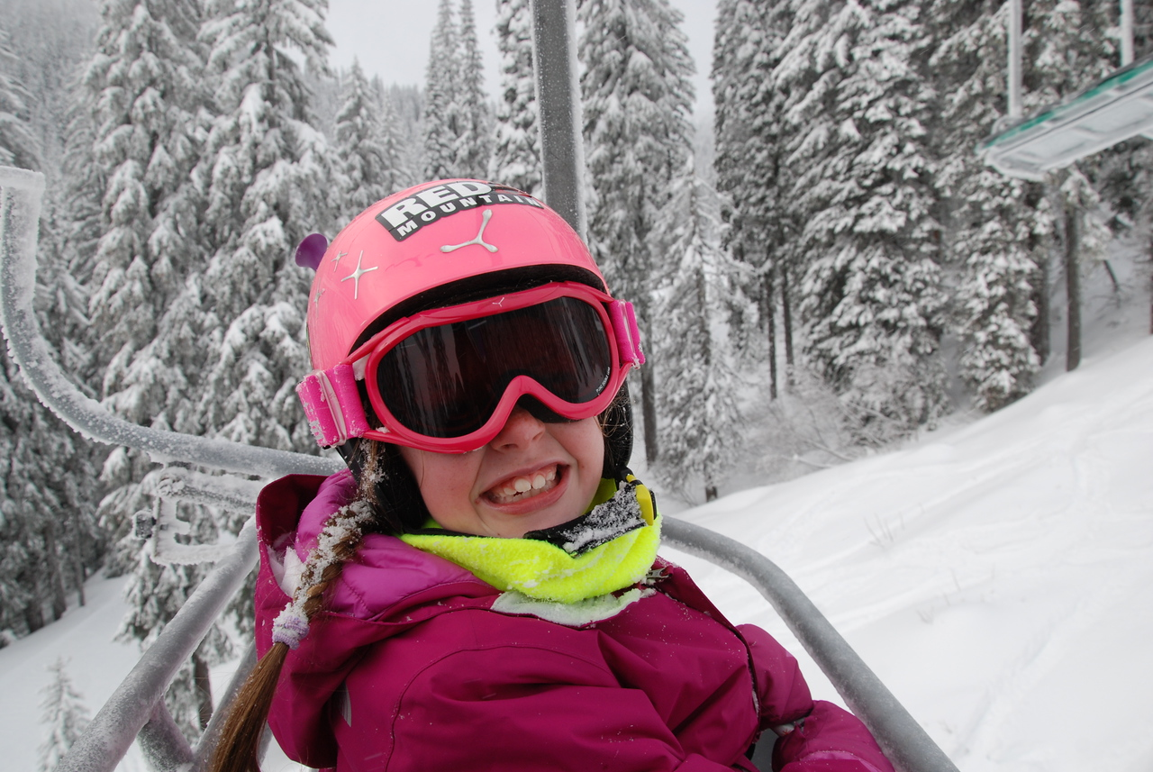 Anya, my chairlift partner at Red Mountain.