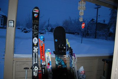 Everything ready for the Ski Hill. Rossland, Christmas 2016.
