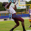 Crescent City senior Kevin Williams (7) hauls in a long pass in the first quarter in the game against Union County on Friday night in a preseason matchup. Fran Ruchalski/Palatka Daily News