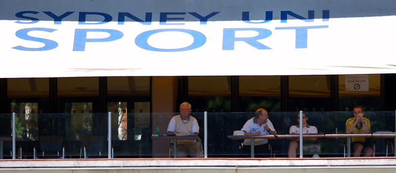 The new look grandstand.