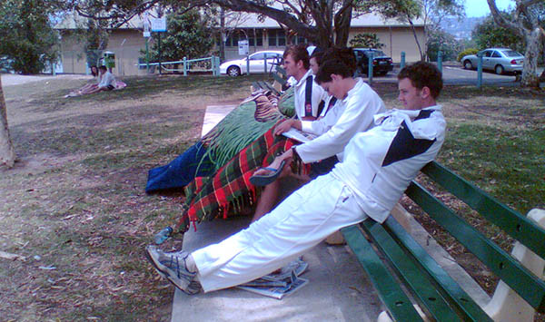 Waiting to bat at Mosman 2006/07