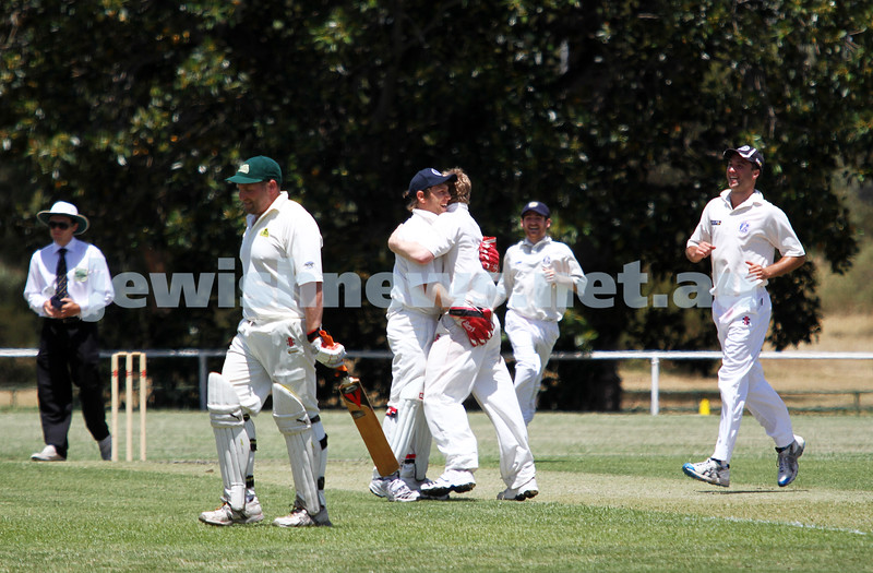 5-1-13. Cricket. Maccabi v Parkville at Parkville. Photo: Peter Haskin