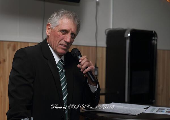 Buffalos President Duncan Bennet-Burleigh addresses the 2014/15 Presentation night.