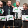 """Players with 50 games for the """"Buffs"""", Andrew Swaffield, Jim Burleigh, Beau Walker and AJ. O'Mara"""