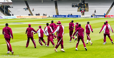 The West Indies practise their dance moves
