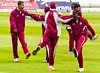 The West Indies warm up
