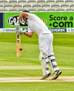 Jonathan Trott under pressure in the opening overs