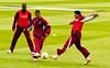 The West Indies warm up with a game of football