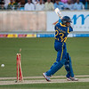 TM Dilshan is bowled out during 1st ODI Cricket Match between Pakistan and Sri Lanka, held at the Dubai International Cricket Stadium on Saturday, November 11th, 2011. Photo by: Stephen Hindley/SPORTDXB