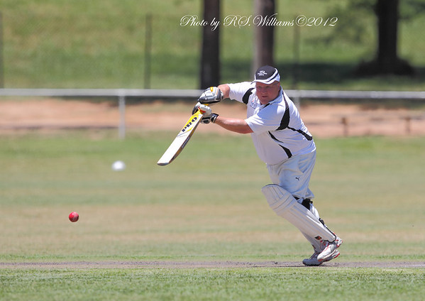 Yass opener Adrian Waters drives the ball away in his team's semi final victory over Cobar.