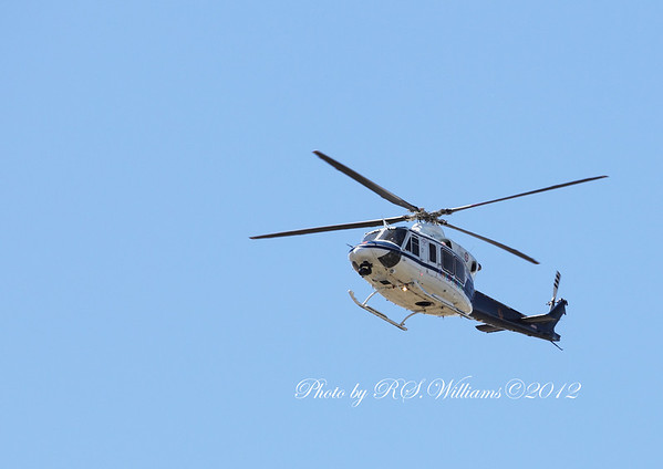 NSW Ambulance 'Childflight' helicopter dropped by to watch all the action at Victoria Park, Yass in the NSW Country Plate semi-final.