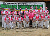 "On ""Pink-Stumps Day"", the Bowning Buffalos pose for a portrait shoot in February 2013."