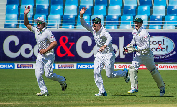 Cricket.  Pakistan vs South Africa, Day 1 of the 2nd Test Match, Dubai UAE. 23 Oct 2013
