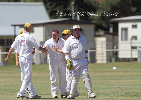 A much needed wicket for the Cowboys at Yass.