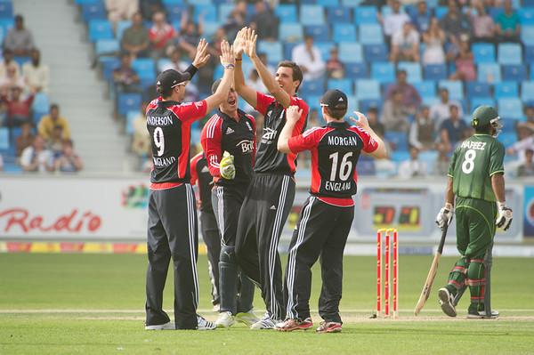 Cricket.  Pakistan vs England, 3rd ODI, Dubai UAE. 03-07 Feb, 2012