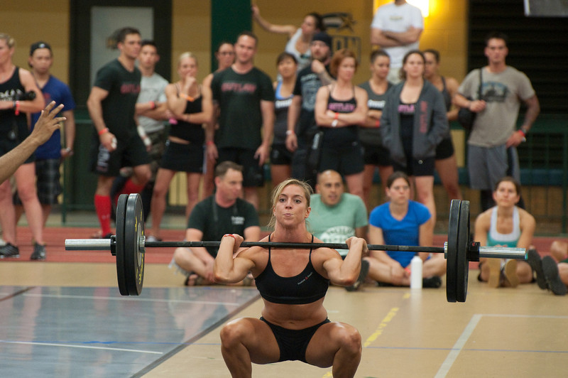 A thruster progression with Christy....  the squat