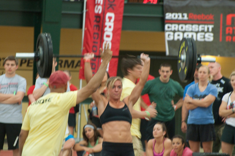 A thruster progression with Christy.... overhead.
