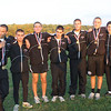 Potomac Falls High School boys cross country team video interview after winning 10th straight Dulles District title Wednesday at Oatlands outside of Leesburg, Va.