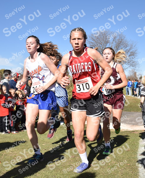 -Messenger photo by Britt Kudla<br /> Ruth Jennings of Williamsburg compete during Class 2A girls State XC on Saturday at Lakeside Golf Course