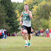 Concord Minutemen Anthony Roberts (623) finishes fifth during Saturday's Varsity Boys NLC Championship at Ox Bow Park in Goshen.