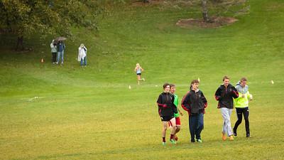 Alta men's varsity team, warming up