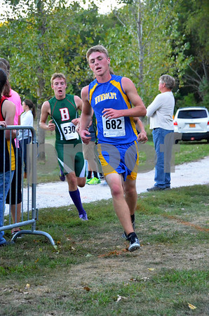 -Messenger photo by Britt Kudla<br /> Micheal Bowden of Humboldt competes during Humboldt cross country invitational on Monday night