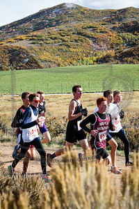 Isaac M, Alta JV, rounding the bend after the hill