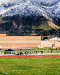 Mountains east of Spanish Fork HS