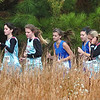 Pack of Sullivan South runners pass two from Unicoi County during the girls A-AA Region 1 CC meet at Daniel Boone Photo by Ned Jilton II