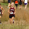 D-B runner battles with THS runner on the lower portion of the course during the girls AAA Region 1 CC meet at Daniel Boone High School. Photo by Ned Jilton II