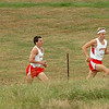Runner from Sevier County and two from Daniel Boone set the pace on the lower part of the courst during the boys AAA Region 1CC meet. Photo by Ned Jilton II