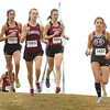 D-B runner makes her way towards the front of the pack in the girls AAA Region 1 CC meet. Photo by Ned Jilton II