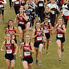 Morristown West runners lead the pack at the start of the girls AAA Region 1 CC meet. Photo by Ned Jilton II