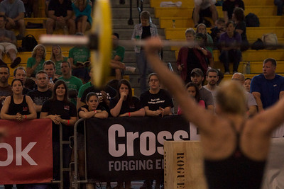 Snatch Ladder with double unders.  MPH crew cheering CP on.