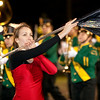 Record-Eagle/Douglas Tesner<br /> <br /> Natalie Lambert, a senior and Color Guard Captain, preforms during the half-time show at the TCW vs TCC football Friday.