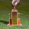 Record-Eagle photo/Jan-Michael Stump<br /> To Friday night's victor goes the Nowak-Olson Memorial Trophy.