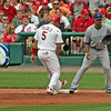 Pujols beating the pickoff.