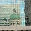 Reflection of the Historic Old Courthouse in downtown office building.  It was in this courthouse that the historic Dred Scott case(s) were tried.