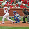Cardinal catcher Yadier Molina at bat.
