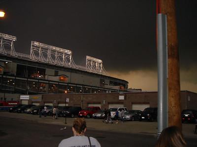 The skies were pretty dark and gloomy.