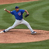 Big Z. Cub starting pitcher Carlos Zambrano in the stretch during his outing Saturday night.