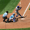 Cub OF Alfonso Soriano swings and misses.