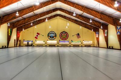 Curling hall at the Niagara Falls Curling Association in Niagara Falls, Ontario.