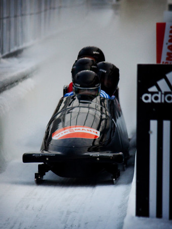 The finish at the 2010 Bobsledding World Cup in Lake Placid, NY.