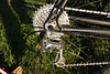 Ultegra derailleur 10 speed is best match for Nashbar Brifters - now seamlessly shifts through full range.  Bit of chain whip however on rough terrain at speed - road Ultegra springs tension not as high as XT.