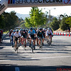 Chris Stewart leading in a cycle race in Westlake Village
