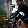 Chris Stewart and Chase Fiedler cycling in a triathlon at UCSB